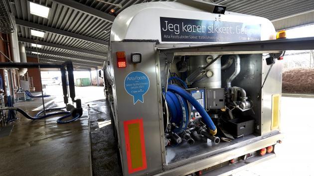 Mælkebil ved Esbjerg mejeri