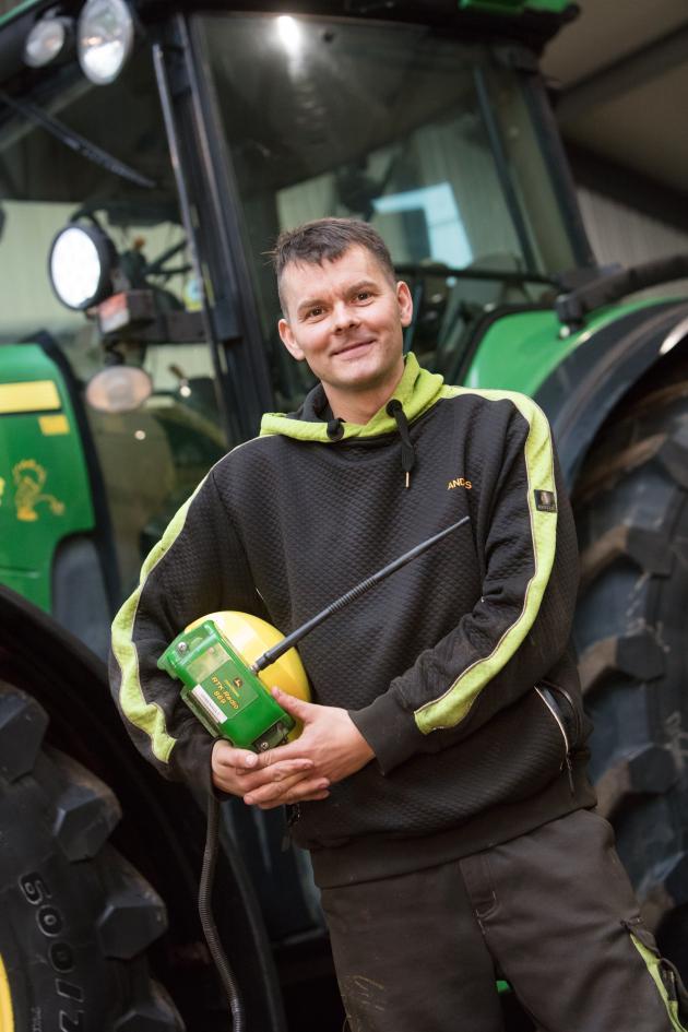 Sponsoreret Topdanmark: Landmand Anders Uhrenholt med GPS fra John Deere