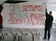 Banner demonstration hestesport