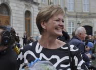 Sådan så miljø- og fødevareminister Eva Kjer Hansen ud, da hun var på Amalienborg i juni 2015 ved den nye regerings tiltrædelse.