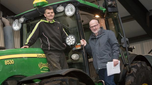 Sponsoreret Topdanmark: Landmand Anders Uhrenholt og assurandør i Topdanmark Ejnar Nygaard Mikkelsen