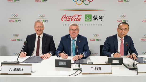Mengniu IOC aftale sponsor Coca-Cola
